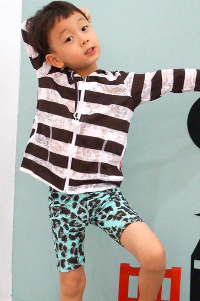 아동 스판 팬츠 레오파드(하의+수영모) R906[벤디스래쉬가드]