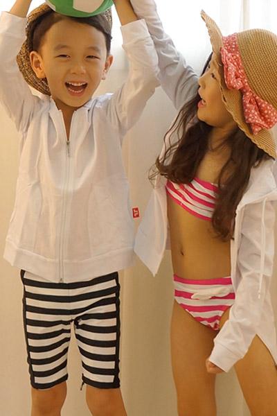 아동 스판 팬츠 마린 블랙(하의+수영모) R905[벤디스래쉬가드]